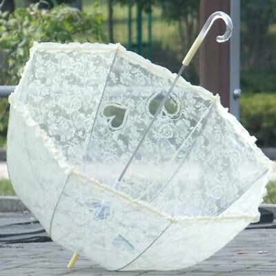 Lace Umbrella Bridal Arch Shaped Dome Frilly Weeding Decoration Parasols