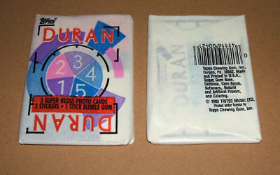 DURAN DURAN Original 1980s Sealed Trading Cards + Stickers & Gum