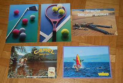 Lot NEUF 5 Cartes postales SPORT & PUB : Tennis golf - gallery card postcard new