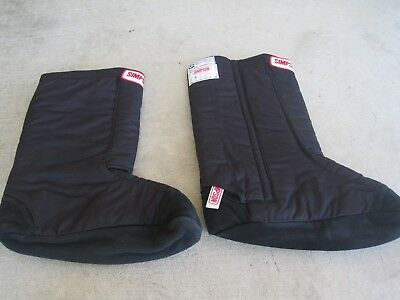 New Simpson Drag Racing Fireproof Over Boot SFI 3.3/20 SFI Black Size Med/Large