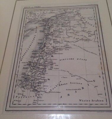 Karte Sirien Antique Map Of Syria & Part Of Palestine Damascus 1865 W Pobuda