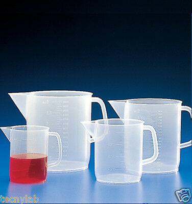 Jarra graduada forma baja PP, 3000ml/Measuring jugs short form PP, 3000 ml