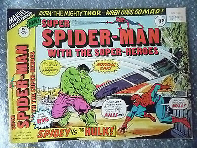 Marvel Comic- Super Spider Man with the Super Heroes,No.168, 1 May 1976