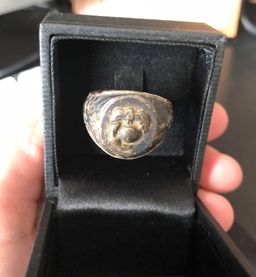 Sterling WWII US Marine Corps Ring Vintage Antique