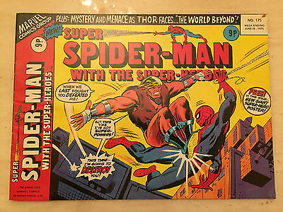 SUPER SPIDER-MAN with the SUPER-HEROES - No 175 - 16th June 1976