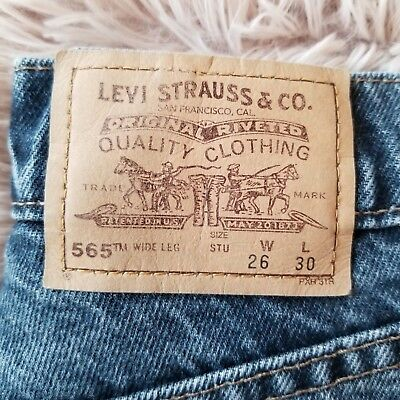 VTG Levi's 26x30 Student Dark Wash Jeans Orange Tab EUC