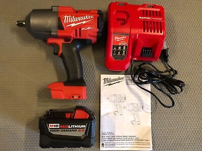 "Milwaukee 2767-20 M18 FUEL 1/2"" Impact Wrench New 9.0 ah Battery Kit"