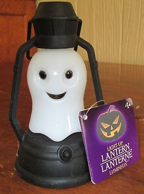 Lot of 7 New Old Stock Greenbriar Light Up Ghost Halloween Plastic Lantern