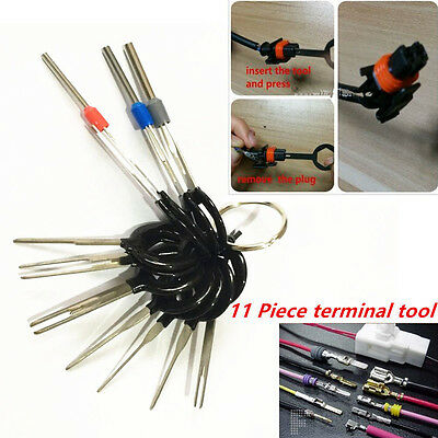 11x Car Wiring Connector Pin Extractor Puller Release Terminal Removal Tool Kit
