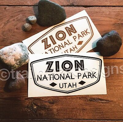 "Zion National Park Vinyl Decal Yeti Ozark Trail 3.""x5"" Sticker For Car Laptop"