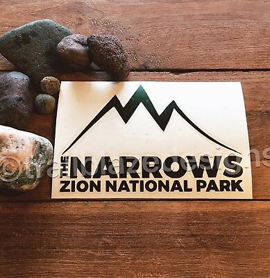 "Zion National Park The Narrows Vinyl Decal Yeti Ozark Trail 3""x6"" Sticker Car"