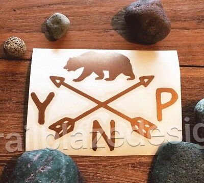 "One  Yosemite National Park Vinyl Decal Sticker 3.5"" Bear Half Dome California"