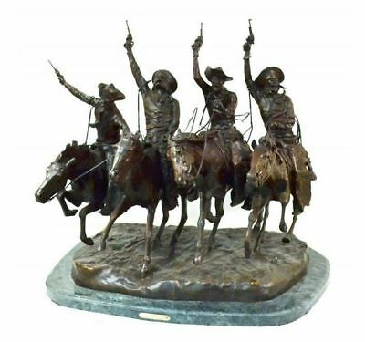 Coming Through the Rye Finest US Bronze Sculpture by F. Remington - Make Offer!