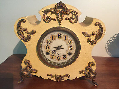 Antique iron clock. 1800s . Very heavy/