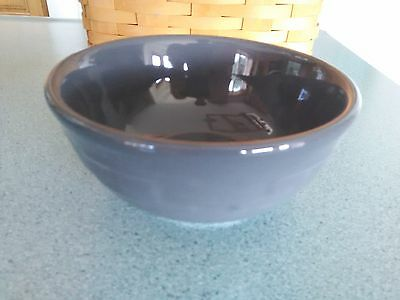 Longaberger Pottery Soup Salad bowl 16 oz Pewter gray Woven Traditions NEW w/box