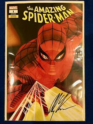 Amazing Spider-Man #1 2018 SDCC Cover A Variant Exclusive Signed Alex Ross w/COA