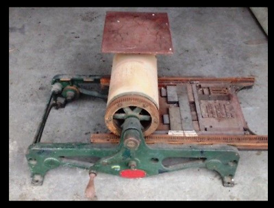 Poco No. 0 Proof Press - Vintage Printing Press with printing letters and plates