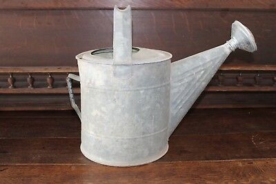 Antique Vintage Galvanized Metal Garden Watering Can Sprinkler Farmhouse Decor