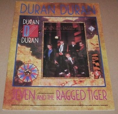 DURAN DURAN Song And Sheet Music Book - Seven & The Ragged Tiger Album