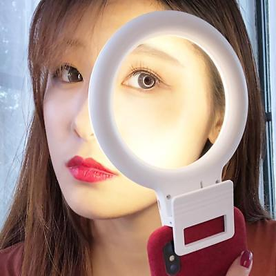 3 Modes Selfie LED Flash Ring Fill Light Camera Photography For iPhone Samsung