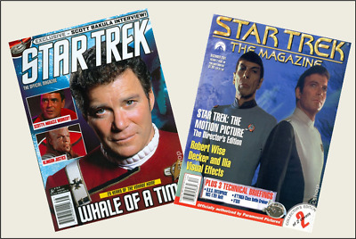 2 Mini Vintage  'STAR TREK'  Magazines OPENING WITH PAGES Dollhouse 1:12