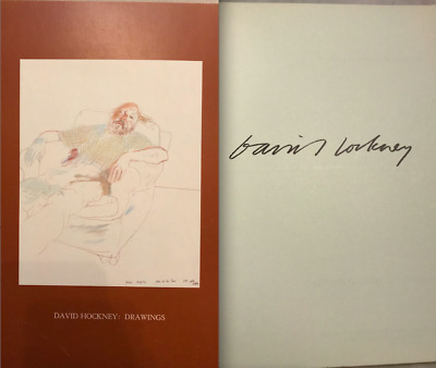 DAVID HOCKNEY PLATE SIGNED Book Catalogue Drawings 1974 Dayton MN w/ PRICE LIST!