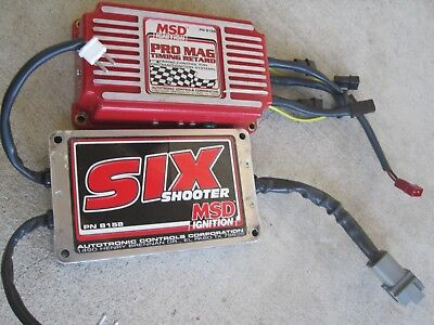 MSD SIX SHOOTER PN 8158 w/ MSD Timing Retard Module #8168 dragster Pro Mag 44