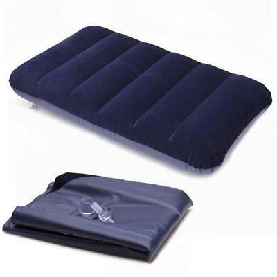 Outdoor Inflatable Air Bed Pillow Cushion Comfortable Mattress Head Protection