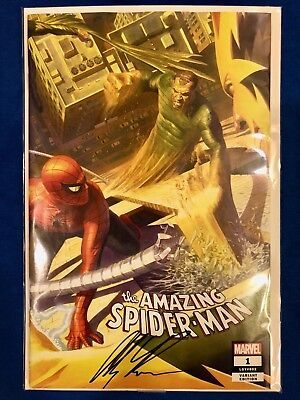 Amazing Spider-Man #1 2018 SDCC Cover B Variant Exclusive Signed Alex Ross w/COA