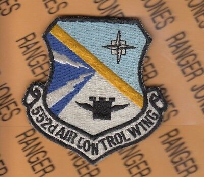 """USAF US Air Force 552nd ACW Air Control Wing 3"""" Hook & Loop patch"""