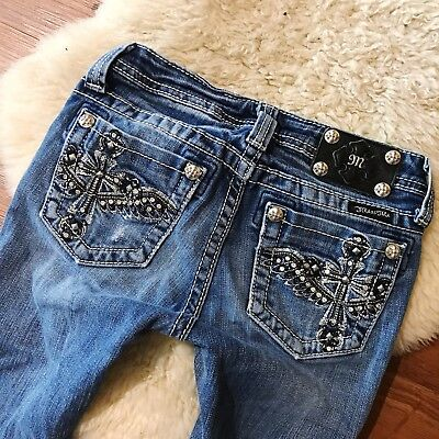 Miss Me Young Girls {Wing Cross Bootcut Jeans} Sz 14x28. So Cute!