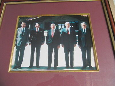 Bold Signing -Auth. Coa  Of 5 Presidents Signed By Jimmy Carter At Nixon Library