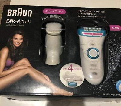 Braun 9-549 Silk-épil 9 Bonus Edition Wet & Dry Cordless Epilator
