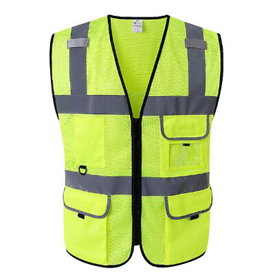 GOGO Mesh 5 Pockets High Visibility Reflective Safety Vest Ultra Cool Class 2
