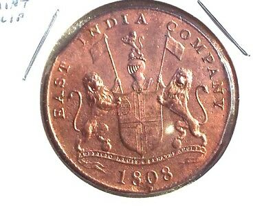 East India Company 1808  20 cash , in Extra Fine