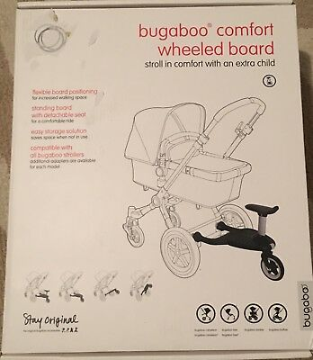 NEW in Box - Bugaboo Comfort Wheeled Board Baby Toddler Stroller Attachment