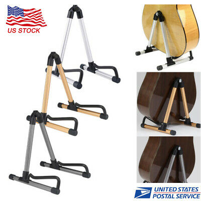 NEW Folding Electric Acoustic Bass Guitar Stand A Frame Floor Rack Holder