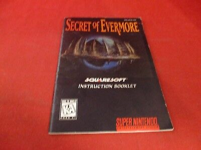 Secret of Evermore Super Nintendo SNES Instruction Manual Booklet ONLY