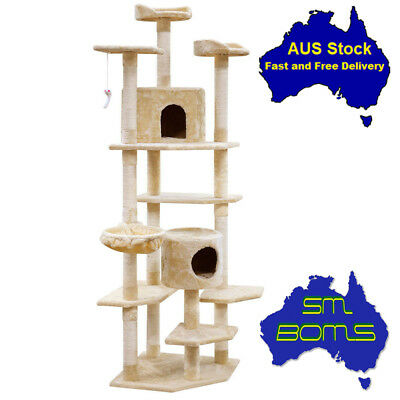 203cm Cat Scratching Pet Tree Scratcher Post Pole Furniture Bed Gym House Toy
