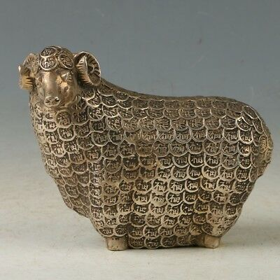 Chinese Copper  Hand carved Sheep  Statue  MY0954