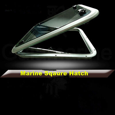 Aluminum Square Deck Hatch Window With Tempered Glass For Marine Boat Yacht