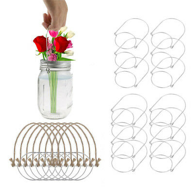 6/8 Packs Wire Handles Handle-Ease for Mason Stainless Steel Canning Jar Hangers