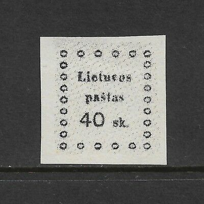 LITHUANIA 1919 issue, 40sk, mint MNH MUH
