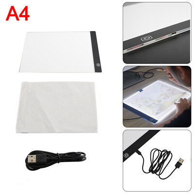 A4 LED Drawing Board Tracing Light Box Tattoo Artist Art Stencil UltraThin Pad