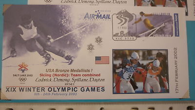 2002 Winter Olympic Games Medal Win Cover, Usa Nordic Combined Team