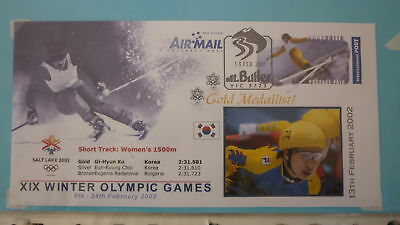 2002 Winter Olympic Games Gold Medal Win Cover, Korea Womens Speed Skating