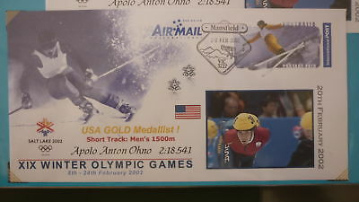 2002 Winter Olympic Games Medal Win Cover, Usa Apollo Anton Ohno Speed Skating