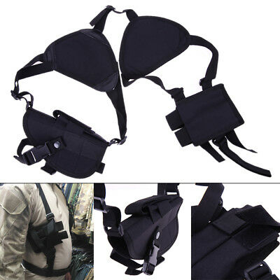 Military Tactical Shoulder Pistol Gun Holster Magazine Bag Hunting Outdoor Pouch