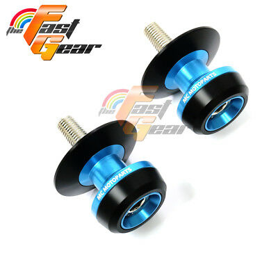 Twall Protector Blue Swingarm Spools Sliders Fit Kawasaki ZZR600 2007-2009