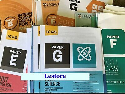 ICAS Past Papers - From year 2 to year 10 *any 20 papers